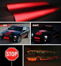 Red reflective vinyl car vehicle boat wrap film 3ft x 4ft sticker decal VViViD