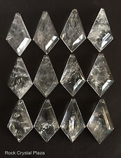 Natural Rock Crystal Quartz Chandelier Pendants Prisms Kite Diamond 85mm 12pc