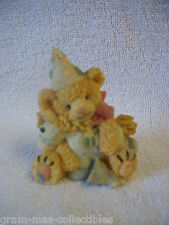 TEDDY BEAR WITH PONY AND PARTY HAT 2 3/4 IN TALL