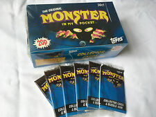 1991 THE ORIGINAL MONSTER IN MY POCKET SERIES 1 TOPPS OFFICIAL MATCHBOX CARDS