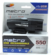 Cygolite Metro 550 USB Rechargeable Bicycle Bike Headlight