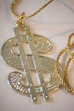 1960/1970s/1980's Big daddy/pimp/gangster / Plástico dólar de oro pendant/necklace