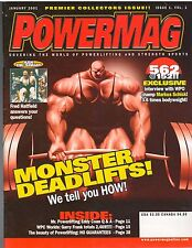 Powermag Powerlifting Weightlifting Strongman Magazine/Premiere Issue 1-01