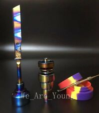 Rainbow Titanium Nail 10.0 - 14.5 - 18.8mm + Carb Cap + Dabber + Non-stick pot