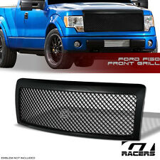 2009-2014 FORD F150 BLACK LUXURY MESH FRONT HOOD BUMPER GRILL GRILLE GUARD COVER