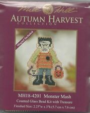 Halloween Monster Mash Mill Hill Cross Stitch Kit with Beads & Treasure