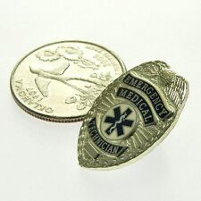 EMT Emergency Medical Technician Silver Mini Badge Lapel Pin Novelty Toy Prop 1""