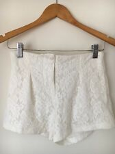 Rare London Cream Lace Hot pant Lined shorts Size 6  T5333