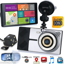 Android Car WiFi GPS 5 inch 1080P HD Car DVR Camera+ Rear View Mirror 8GB 4-Core