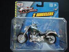 Maisto Kawasaki Vulcan Dark Green 1/18 Motorcycle Bike