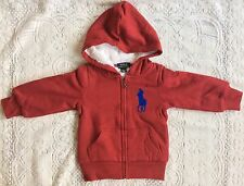 New Baby Boys Ralph Lauren Cotton Fleece Hoodie S/7Y