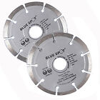 "2x 4 1/2"" Diamond Cutting Disc Blade Segmented Masonry Wheel Angle Grinder 115mm"