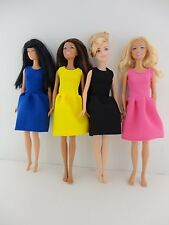Set of 4 Great Dresses for the Office or Evening Wear Made to Fit Barbie Doll