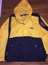VINTAGE 90s POLO SPORT RALPH LAUREN MENS WINDBREAKER SPELL OUT USA Yellow XXL