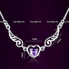 BLACK FRIDAY DEALS Angel Wings Heart Necklace Xmas Gifts Present for Her Girl 3B