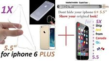 "iphone 6 PLUS 5.5"" ULTRA Crystal Clear case Cover transparent soft silicone TPU"