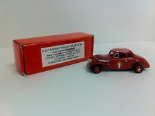 1939 Chevrolet Coupe Juan Manuel Fangio RARE 1/43 Scale Metal - NEW