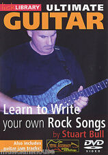 LICK LIBRARY ULTIMATE GUITAR LEARN TO WRITE YOUR OWN ROCK SONGS Play Guitar DVD