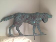 Antique Large Hand Forged Copper Hunting Dog - Hound Weather Vane Rare