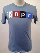 Chaser Men's T-Shirt This is NPR Light Blue Size L NEW National Public Radio