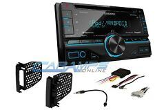 NEW KENWOOD CAR STEREO W/ USB/AUX INPT SIRIUS XM RADIO WITH DASH KIT & CD PLAYER
