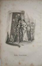1827 la mort est de regarder le guerrier chevalier & squelette richard Dagley gravure