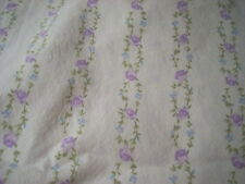 SIMPLY SHABBY CHIC Single/Twin Flat Sheet Cotton Lavender on White Floral EUC