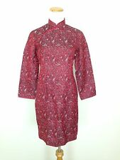 Hsang Chang Silk Qi Pao Cheongsam Red Asian Chinese Traditional Dress Medium?