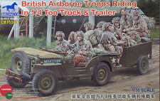Bronco 1/35 British Airborne Troops Riding in 1/4 Ton Truck and Trailer #35169