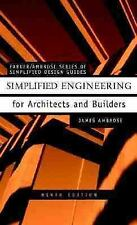 Simplified Engineering for Architects and Builders, 9th Edition, Ambrose, James,