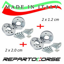 KIT 4 DISTANZIALI 12+20mm REPARTOCORSE MINI PACEMAN R61 JCW 100% MADE IN ITALY