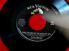 ELVIS PRESLEY~THEY REMIND ME TOO MUCH OF YOU~ONE BROKEN HEART FOR SALE~~ 45