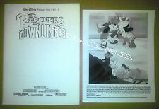 Pressbook + 8x10 Photo~ Disney's ~THE RESCUERS DOWN UNDER ~1990