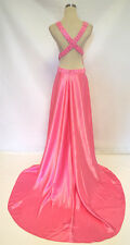 NWT JOVANI Hot Pink Pageant Formal Evening Gown 18