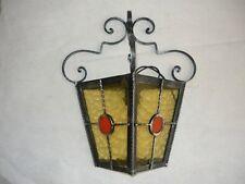 Applique plafoniera lampada da esterno in ferro battuto