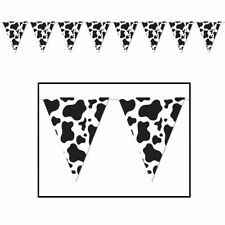 3.6m Western Cow Print Pennant Banner - Wild West & Cowboy Party Decoration