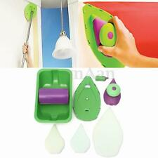 Point Paint Pad Painting Roller Tray 4 Sponge Set Kit Brush Home Wall Decor Tool
