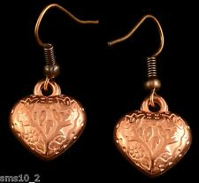 HAND MADE COPPER Colour Heart Orecchini hce179