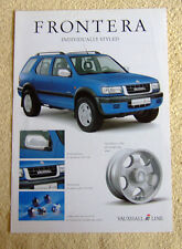 Vauxhall Frontera Irmscher Brochure, June 2000