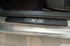 Ladekantenschutz + Einstiegsleisten für Mazda CX-5 Chrom Carbonfolie 320µm stark