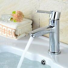 Modern Bathroom Basin Sink Mixer Tap Faucet Chrome Single Handle Hot/Cold Water