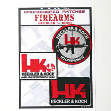 HECKLER & KOCH Set of 3 Patches - Iron-On Patch Super Set #138 - FREE POSTAGE!