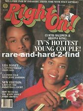RIGHT ON JUNE 1987 CURTIS BALDWIN & REGINA KING Rare Vintage Magazine