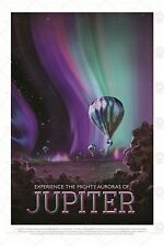SPACE TOURISM SCIENCE TRAVEL JUPITER JOVIAN AURORAS BALLOON POSTER PRINT LF1805