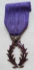 Médaille luxe émail Chevalier Ordre des Palmes Académiques argent ORIGINAL