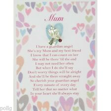 MUM Guardian Angel Lapel Pin & Inspirational Message Card Gift