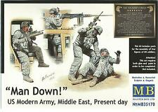 Master Box Man Down, Modern US Army, Middle East  Figures in  1/35, 35170 ST