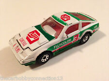 Matchbox Nissan 300ZX-T Turbo Fairlady 1:58 White Fuji Film Diecast Car Loose