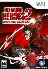NO MORE HEROES 2: DESPERATE STRUGGLE  --  Nintendo Wii Game Only  *Guaranteed*