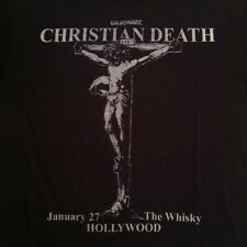 VTG CHRISTIAN DEATH 1987 RARE GOLDENVOICE HOLLYWOOD CONCERT T-SHIRT 80s NOS tour